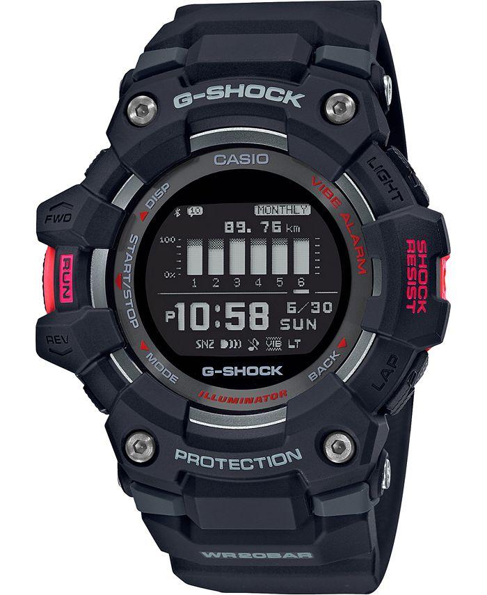 G-Shock - Men's Connected Digital Power Trainer Black Resin Strap Watch 49.3mm
