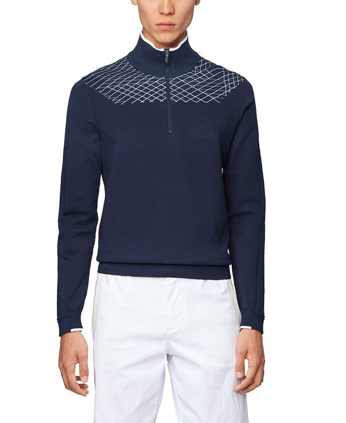 Hugo Boss - Men's Zaden Zip-Neck Sweater