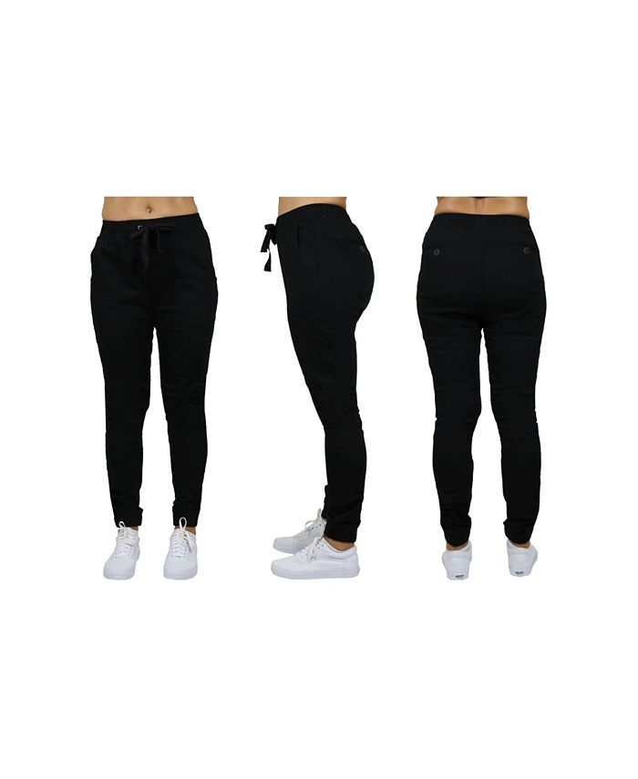 Galaxy By Harvic - Women's Basic Stretch Twill Joggers
