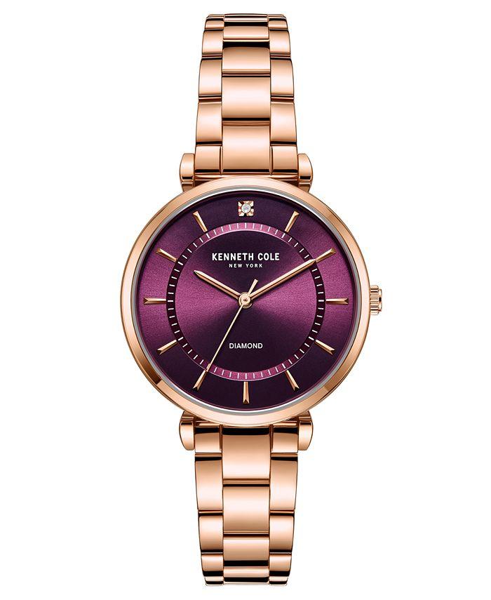 Kenneth Cole New York - Women's Genuine Diamond Watch 34 mm