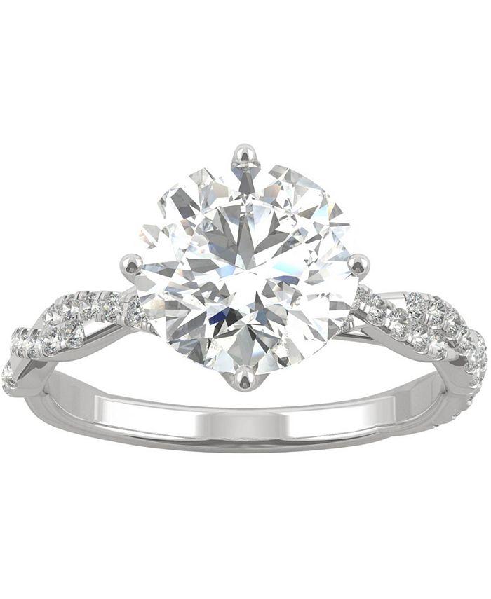 Charles & Colvard - Moissanite Twist Engagement Ring (2-1/3 ct. t.w. DEW) in 14k White Gold