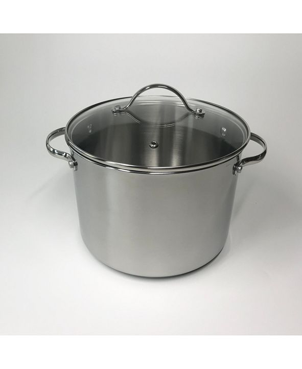 8-Qt Tools of the Trade Stainless Steel Stockpot w/ Lid