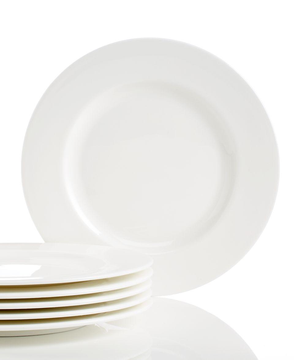 Lenox Classic White Bone China Set of 6 Dinner Plates   Fine China   Dining & Entertaining