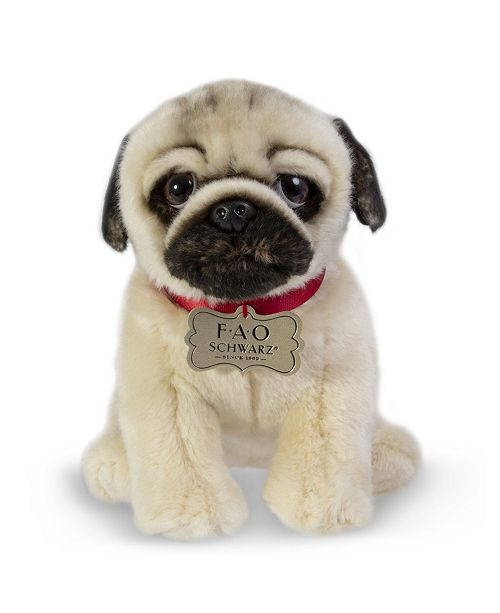 Realistic Pug Stuffed Animal, Fao Schwarz Toy Plush Realistic Pug Reviews Macy S