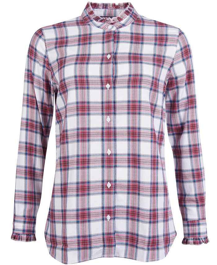 Barbour - Mayapple Plaid Ruffled-Collar Button-Down Shirt