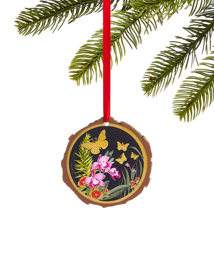 Holiday Lane - Bugs & Botanical Butterfly Disc Ornament