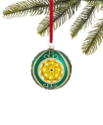 Evergreen Dreams, Glass Ball Reflector Ornament, Created for Macy's