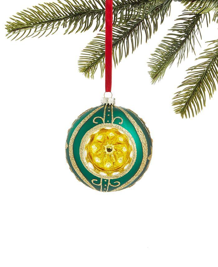 Holiday Lane - Evergreen Dreams Glass Ball Reflector Ornament