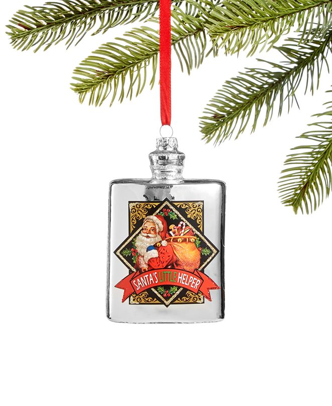 Holiday Lane Foodie and Spirits Silver Bottle Ornament, Created for Macy's