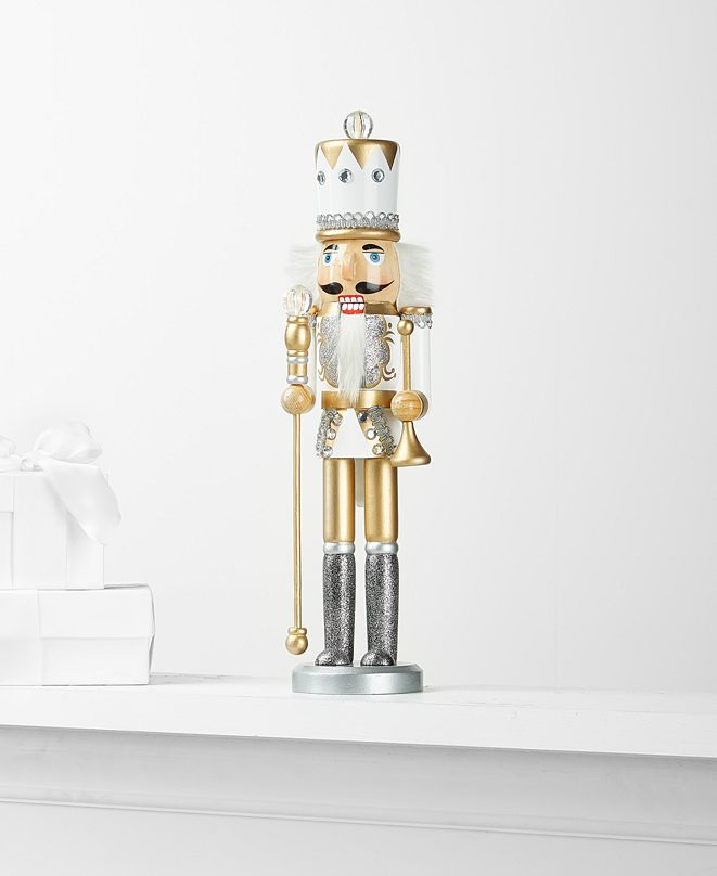 Holiday Lane Shine Bright, Gold Nutcracker, Created for Macy's