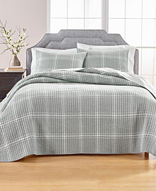 Heather Plaid Flannel King/Cal King Quilt, Created for Macy's