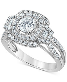 Diamond Multi-Halo Engagement Ring (1-1/4 ct. t.w.) in 14k White Gold