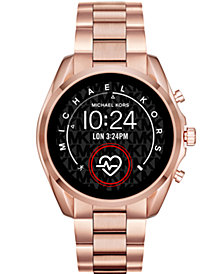 Michael Kors Access Gen 5 Bradshaw Rose Gold-Tone Stainless Steel Bracelet Touchscreen Smart Watch 44mm