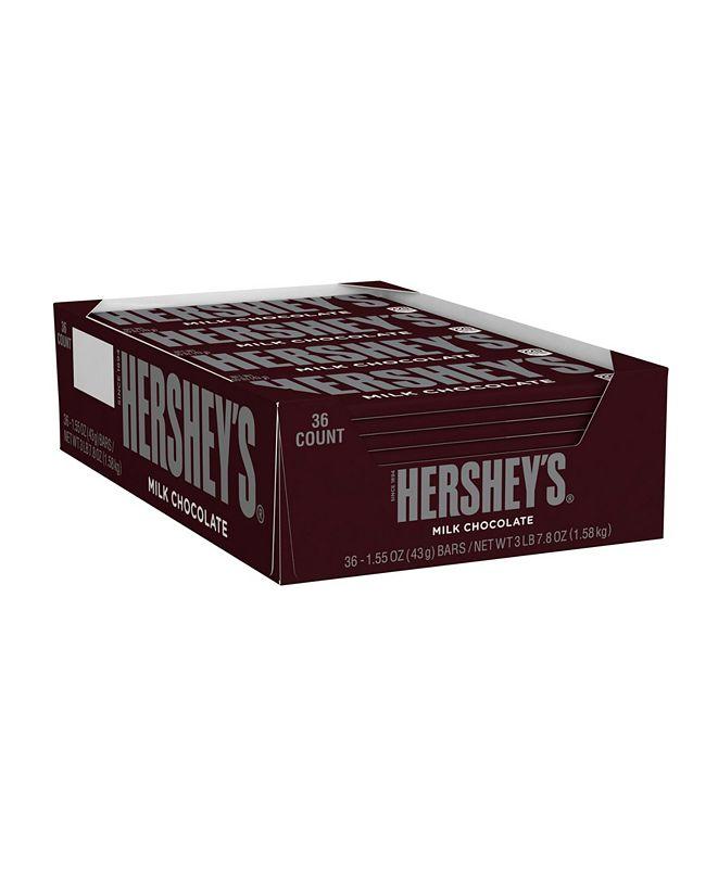 Hershey's Milk Chocolate Bar, 1.55 oz, 36 Count