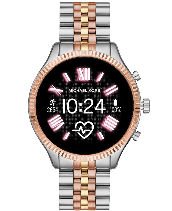 Michael Kors - Lexington 2 Gold-Tone Stainless Steel Bracelet Touchscreen Smart Watch 44mm (Also Available in Stainless Steel and Tri-color