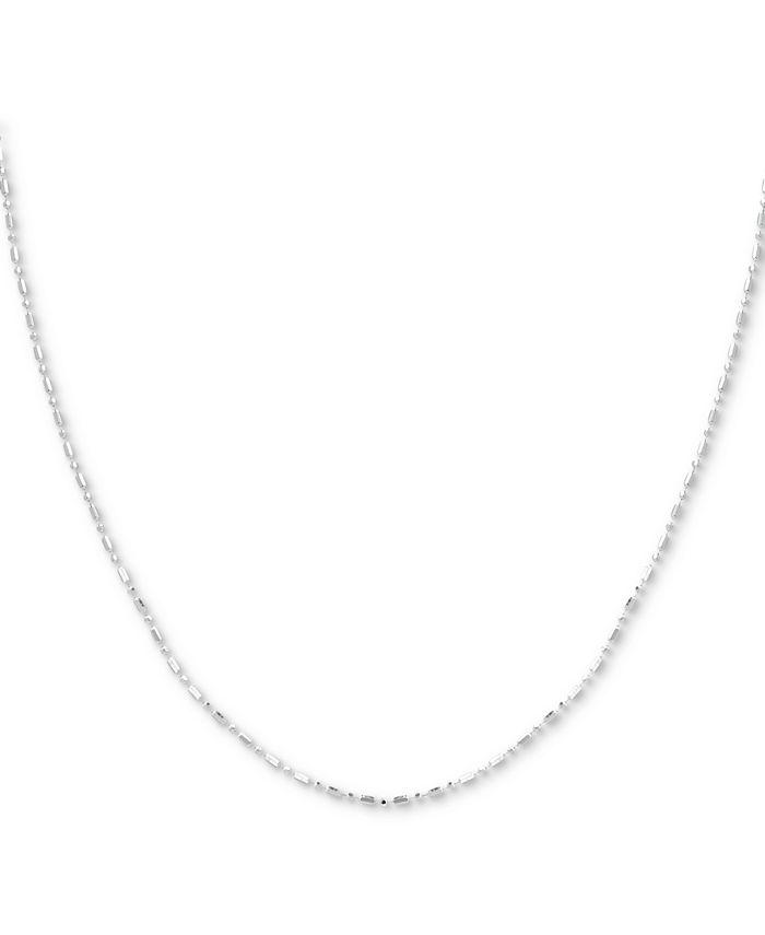 "Giani Bernini - Sterling Silver Necklace, 24"" Dot Dash Link"