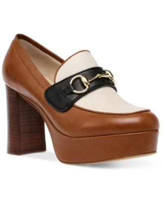 Cinderella Horse-Bit Platform Loafers