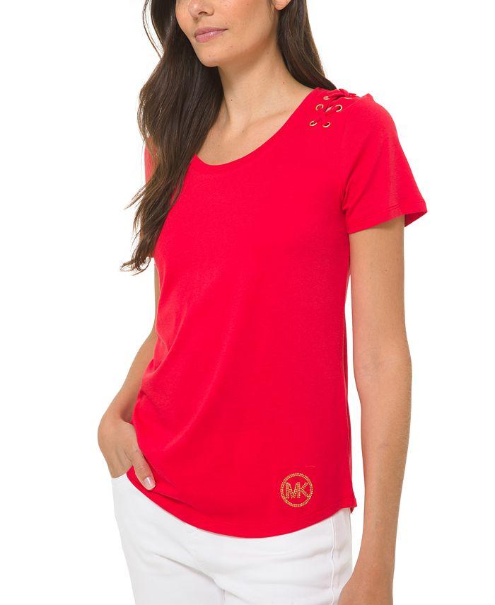 Michael Kors - Lacing-Detail T-Shirt