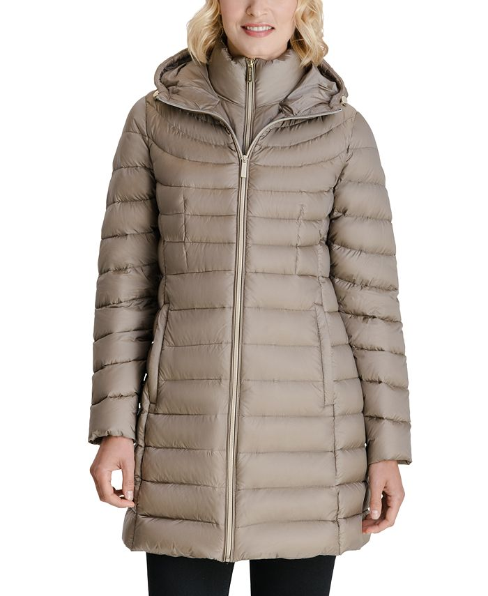 Michael Kors - Hooded Packable Down Puffer Coat