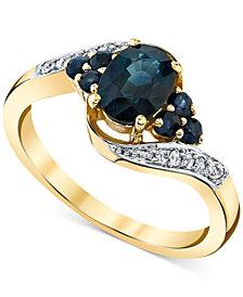Sapphire (1-1/3 ct. t.w.) & Diamond (1/20 ct. t.w.) Ring in 10k Gold