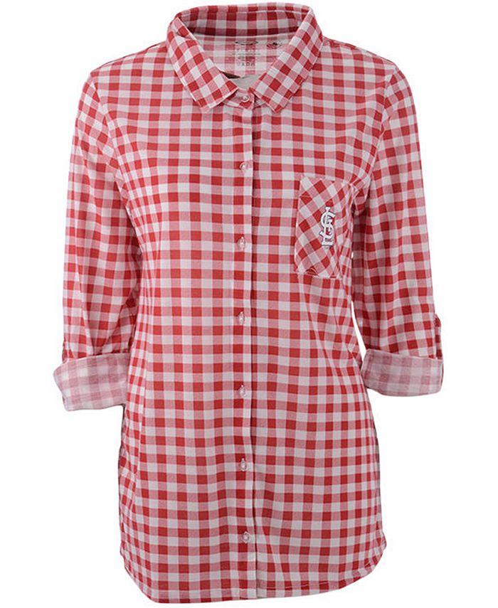 Lids - Women's St. Louis Cardinals Wanderer Plaid Shirt