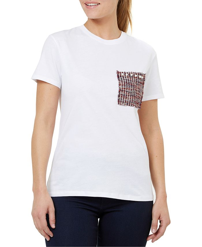 Numero - Brocade Pocket Cotton T-Shirt