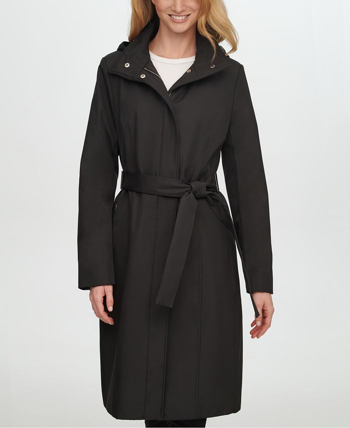 Calvin Klein - Belted Hooded Raincoat