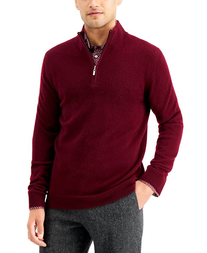 Tasso Elba - Men's Quarter-Zip Cashmere Sweater