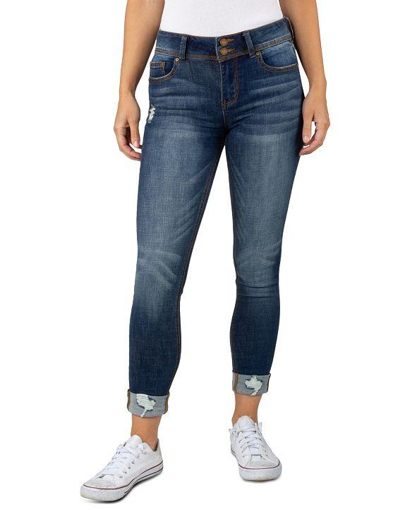 Indigo Rein Juniors' Roll-Cuff Skinny Jeans