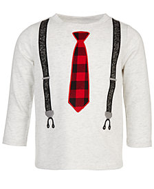 First Impressions Baby Boys Long-Sleeve Tie & Suspenders T-Shirt, Created for Macy's