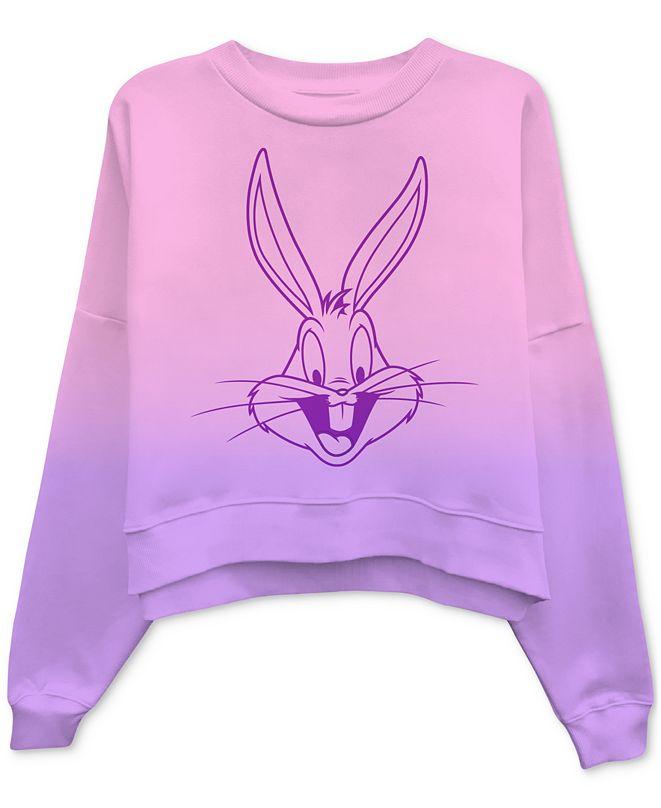 Freeze 24-7 Juniors' Bugs Bunny Dip-Dyed Sweatshirt