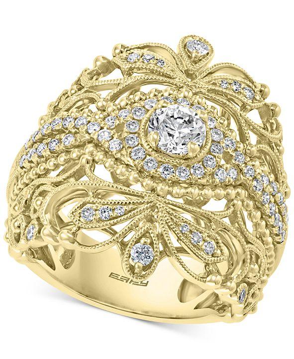 EFFY Collection EFFY® Diamond Openwork Statement Ring (7/8 ct. t.w.) in 14k Gold