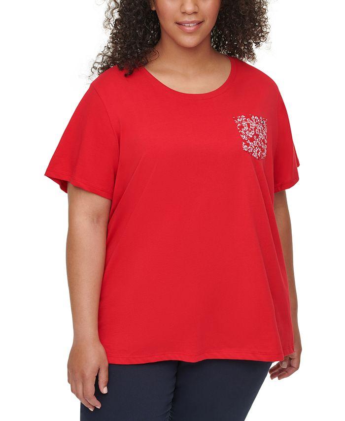 Tommy Hilfiger - Plus Size Cotton Pocket T-Shirt