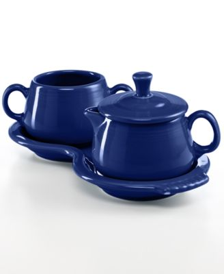 Fiesta Cobalt Sugar and Creamer Set