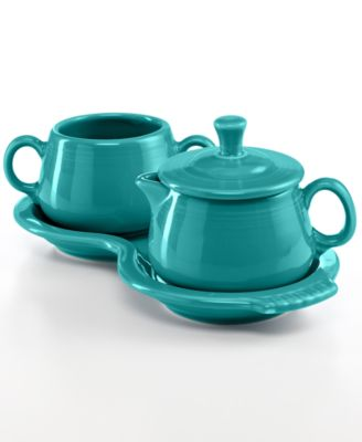 Fiesta Turquoise Sugar and Creamer Set