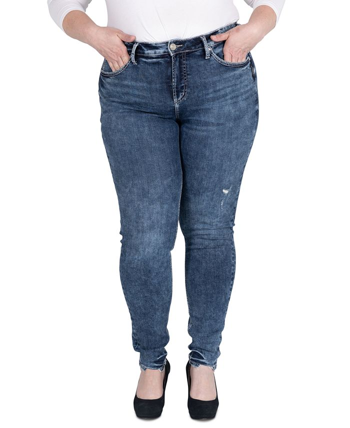 Silver Jeans Co. - Trendy Plus Size Avery Skinny Jeans