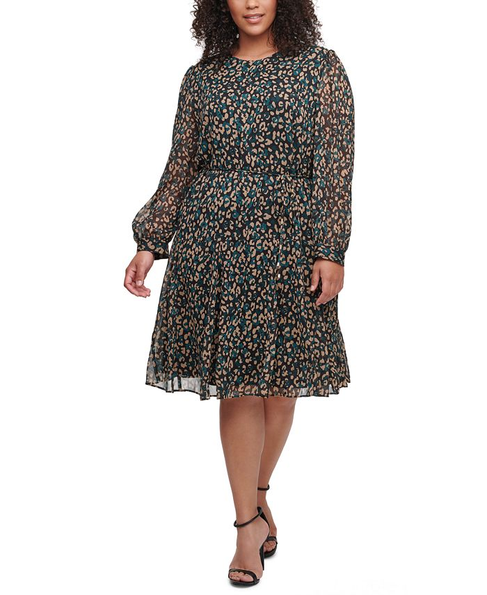 Tommy Hilfiger - Plus Size Animal-Print Dress