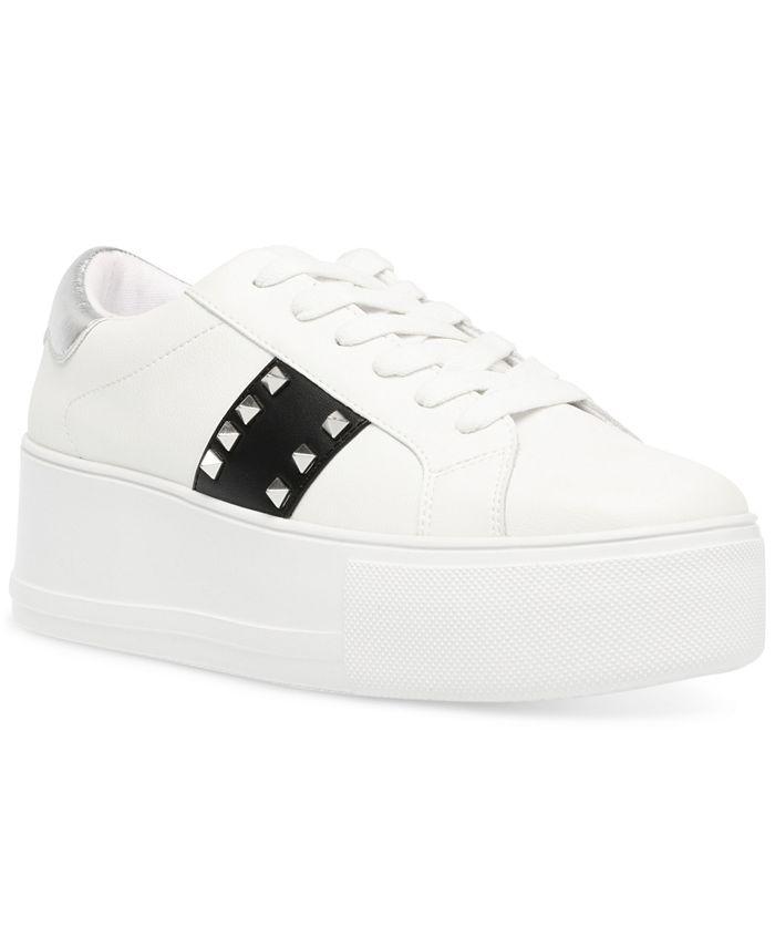 Steve Madden - Women's Pingo Studded Flatform Sneakers