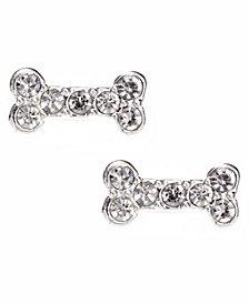 Pet Friends Jewelry Pave Bone Stud Earring