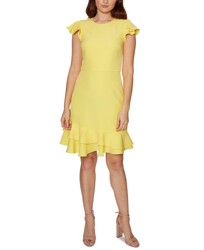 Betsey Johnson - Ruffle-Hem Sheath Dress