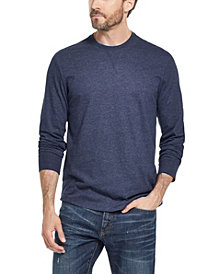Weatherproof Vintage Men's Long Sleeve Brushed Jersey Crew T-shirt