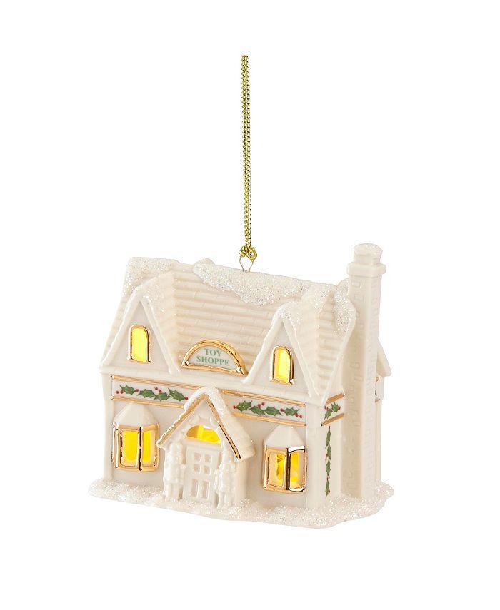 Lenox - Christmas Village Toy Shoppe Lighted Ornament