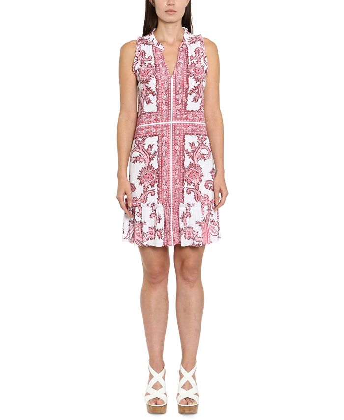 Michael Kors - Petite Printed Ruffled Dress