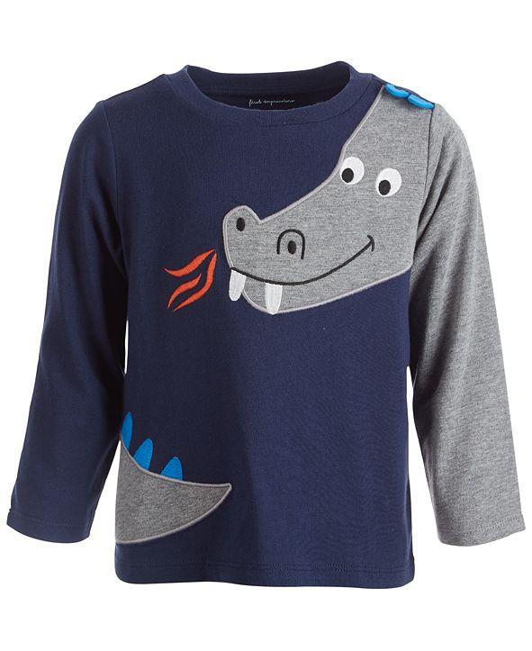 First Impressions Baby Boys Dragon Tee, Created for Macy's