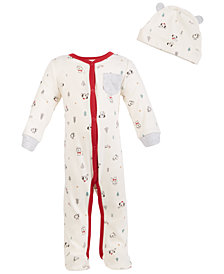 First Impressions Baby Boys or Girls Koala-Print Coverall Set, Created for Macy's