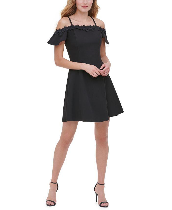 kensie - Appliqué-Detail Fit & Flare Dress
