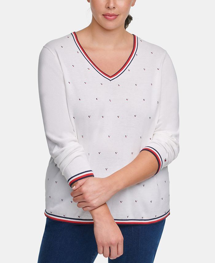 Tommy Hilfiger - Plus Size Ivy Cotton Embellished Sweater