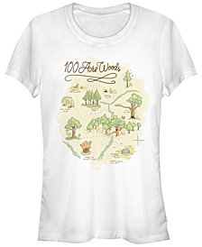 Fifth Sun Women's Winnie the Pooh Acre Map Short Sleeve T-shirt