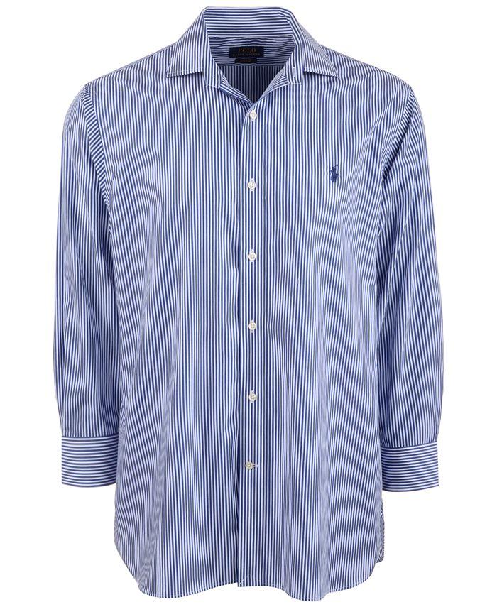 Men's Classic/Regular-Fit Wrinkle-Resistant Stripe Dress Shirt