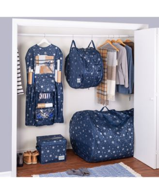 Deluxe Hanging Gift Wrapping Paper Organizer